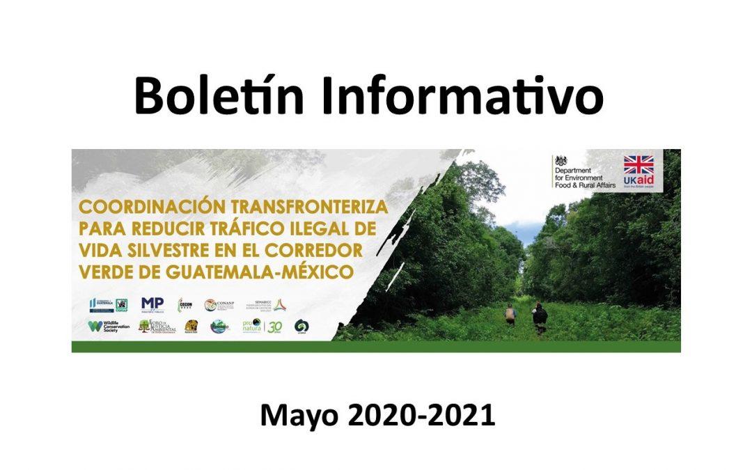 Boletín informativo «Coordinación Transfronteriza para Reducir el Tráfico Ilegal de Vida Silvestre en el Corredor Verde de Guatemala-México»